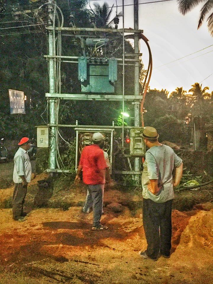 Stromverteiler in Patnem