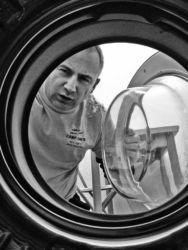washing machine looking at me